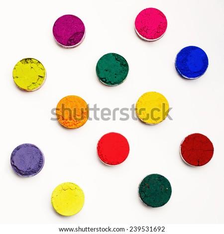 Indian Holi festival colours background - stock photo