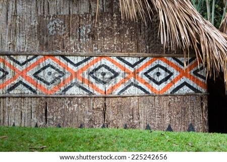 Indian Hut in Brasil. - stock photo