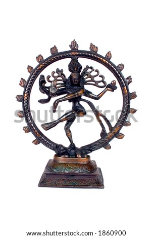 Indian Lord of the Dance 'Natraj' With Clipping path - stock photo