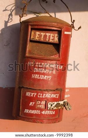 Indian mailbox - stock photo