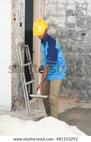 indian male contractor on site