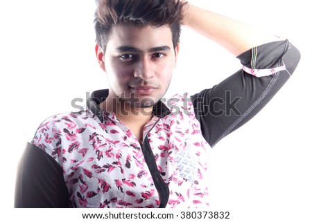 Indian Male model corporate look in business attire - stock photo