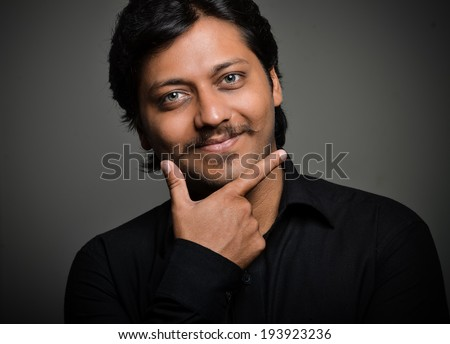 indian man with face expressions - stock photo