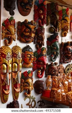 Indian masks - stock photo