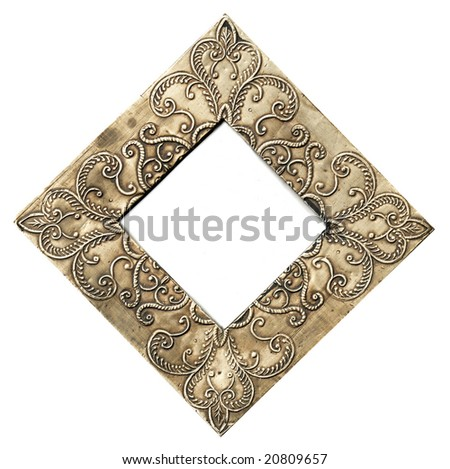 Indian Metal Embossed Frame Stock Photo & Image (Royalty-Free ...