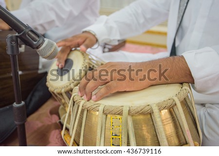 indian musical instruments - stock photo