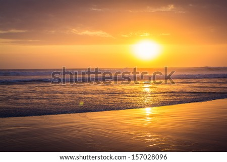 Indian Ocean at beautiful Sunset