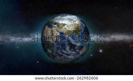 Indian Ocean Galaxy (Elements of this image furnished by NASA) - stock photo