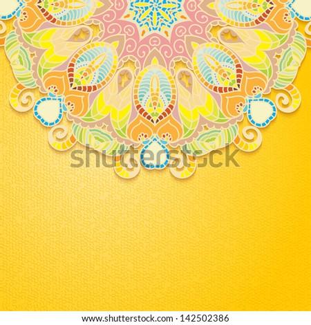 Indian Ornament. Mandala. - stock photo