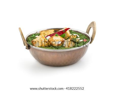 Indian Palak Paneer Food - stock photo