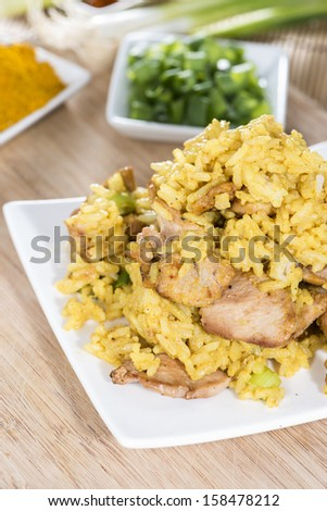 Indian Rice with Curry an Chicken