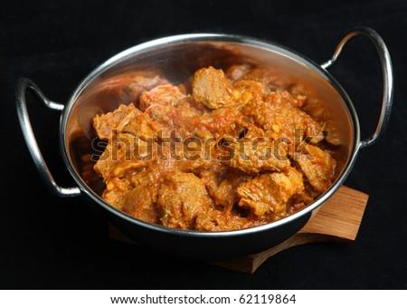 Indian rogan josh lamb curry - stock photo