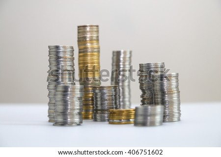 Indian rupee, coins - stock photo