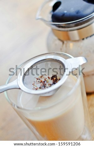 Indian spiced chai latte - stock photo