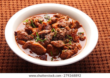 Indian spicy  mutton curry. - stock photo