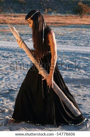 Indian summer girl - stock photo