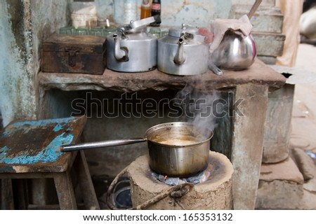 Indian tea - stock photo