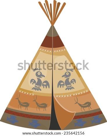 Indian tepee - stock photo