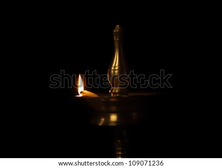 Indian Traditional Oil Lamp - stock photo