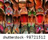 Indian traditional slippers - stock photo