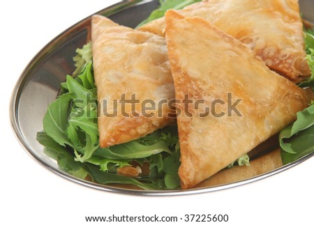 Indian vegetable samosas - stock photo