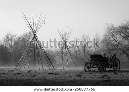 Indian village - stock photo