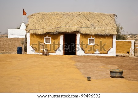 indian village - stock photo