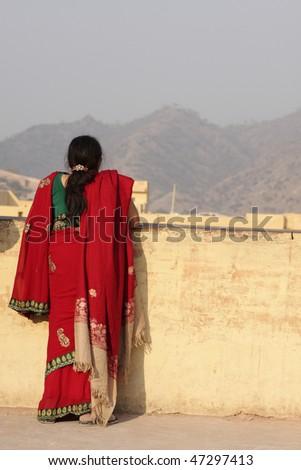 Indian woman - stock photo