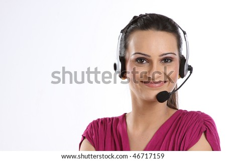 Indian woman with headphones