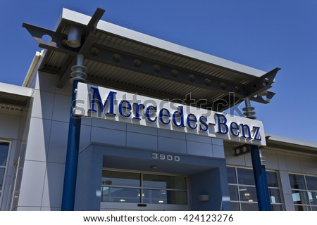 Indianapolis - Circa May 2016: Mercedes-Benz Dealership. Mercedes-Benz is a global automobile manufacturer and a division of Daimler AG I