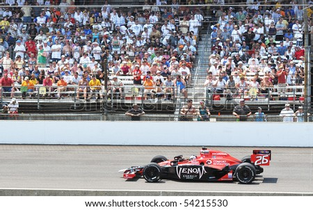 INDIANAPOLIS, IN - MAY 30: Indy car driver marco andretti is running in the Indy 500 race May 30, 2010 in Indianapolis, IN - stock photo
