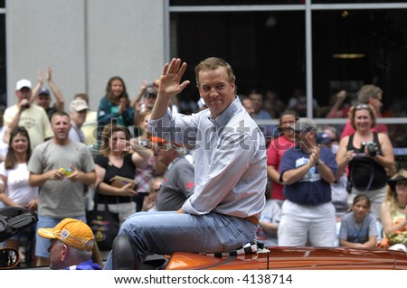 Indianapolis 500 Parade, 2007: Peyton Manning EDITORIAL ONLY - stock photo