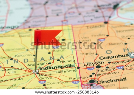 Map Indiana Stock Images RoyaltyFree Images Vectors Shutterstock - Indianapolis map usa