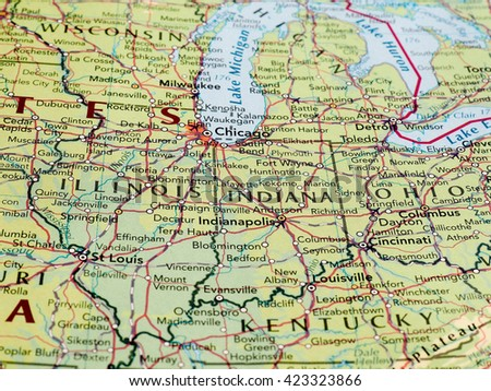 Indiana Map Stock Images RoyaltyFree Images Vectors Shutterstock - Indianapolis map usa