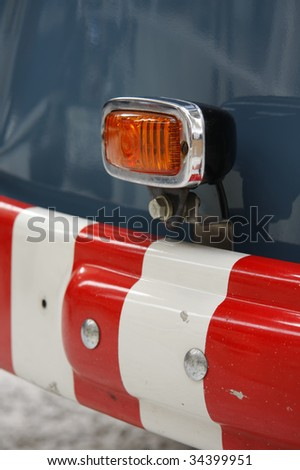 Indicator of 50s  wrecking truck - stock photo