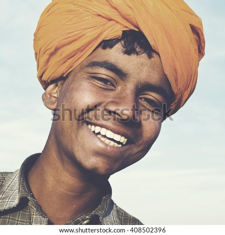 Indigenous Indian Asian Boy Casual Culture Joy Concept - stock photo