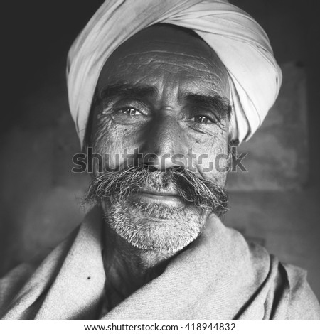 Indigenous Senior Indian Man Character Asian Concept - stock photo