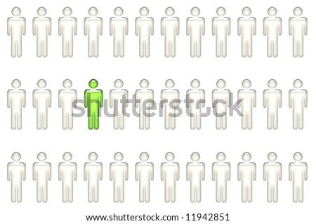 Individual With Leadership Qualities on White Background