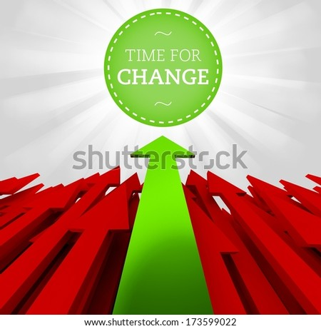 Individuality concept: Time for change - stock photo