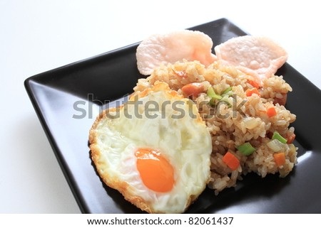 Indonasia cuisine, Nasi Goreng fried rice - stock photo