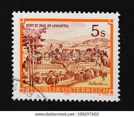 INDONESIA - CIRCA 1984: A stamp printed in Indonesia shows Manor, circa 1984