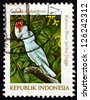 INDONESIA - CIRCA 1981: a stamp printed in Indonesia shows Pink-crested Cockatoo, Cacatua Moluccensis, Moluccan Cockatoo, Bird, circa 1981 - stock photo