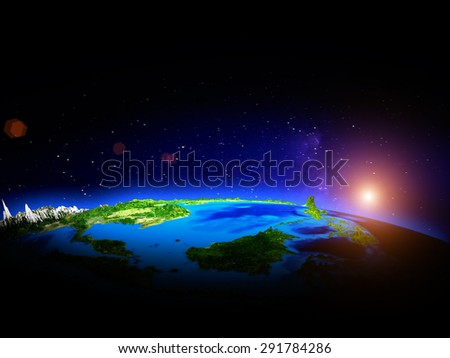 Indonesia. Elements of this image furnished by NASA - stock photo