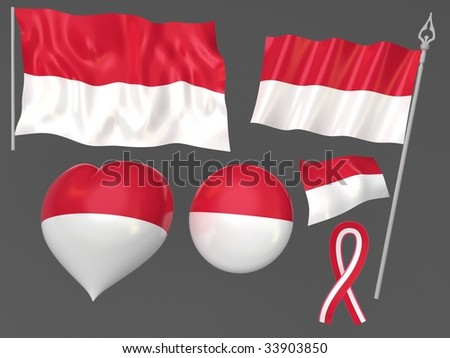 Indonesia flag national symbolic