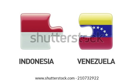 Indonesia Venezuela High Resolution Puzzle Concept