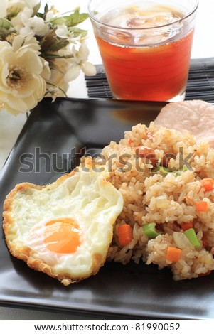 Indonesian cuisine, Nasi Goreng Spicy stir fried - stock photo