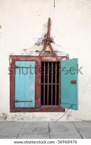 Indonesian window - stock photo