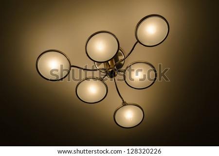 indoor Chandelier - stock photo