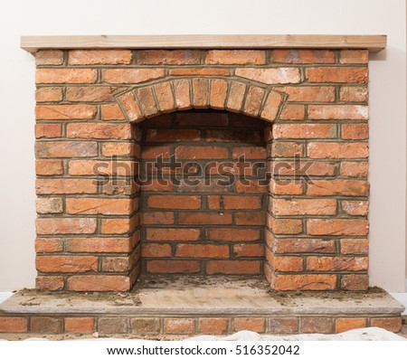 Old fireplace stock images royalty free images vectors for Building an indoor fireplace
