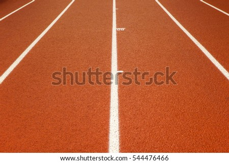 Indoor running track at a local high school field house for indoor training and running events